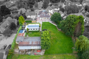 real estate aerial house photo