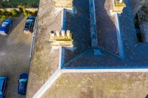 multi pitched roof aerial inspection by drone