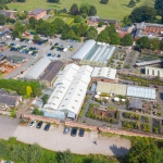 aerial marketing photography of nursery in derbyshire