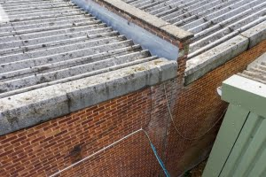 industrial unit roof aerial inspection by drone