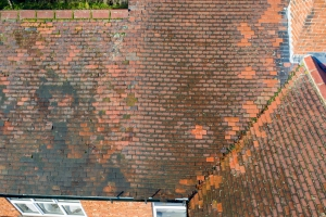 pitched roof aerial inspection by drone