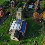 overview of roofing building work at historic church building in leicestershire