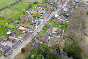 aerial view of Hemington village in leicestershire