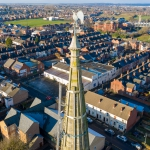 church roof inspection and spire in mansfield nottinghamshire