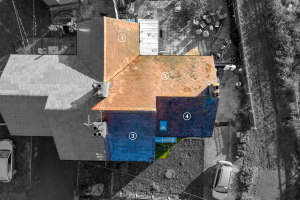 annotated overview of roof inspection in derbyshire